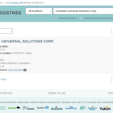 Canadian Universal Solutions Corp. фото 1